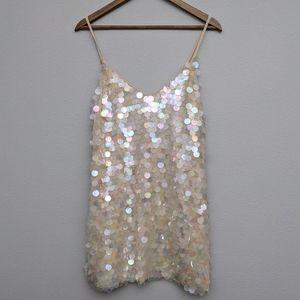 NBD Sequin Disc Mini Dress Medium